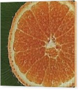 Fun With Fruit Orange Bubbles Wood Print