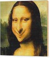 Fun With Mona Lisa Wood Print