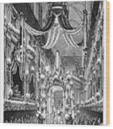 Funeral Dauphine, 1746 Wood Print
