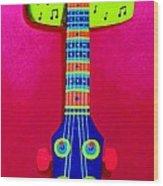 Funkadelic Guitar Wood Print