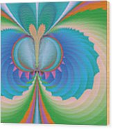 Funky Butterfly Abstract Art Wood Print