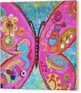 Funky Butterfly Wood Print