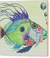 Funky Fish Art - By Sharon Cummings Wood Print