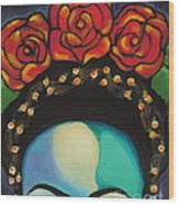 Funky Frida Wood Print