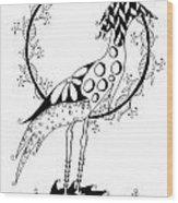 Funky Long Legs Wood Print