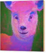 Funky Pinky Lamb Art Print Wood Print