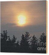 Funky Sun Wood Print