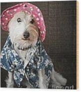 Funny Doggie Wood Print