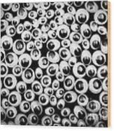 Funny Eyes Background Wood Print