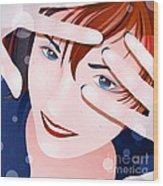 Funny II Wood Print by Sandra Hoefer