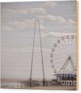 Funtown Pier Wood Print