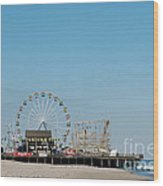 Funtown Pier Wood Print