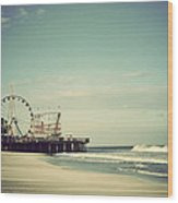 Funtown Pier Seaside Heights New Jersey Vintage Wood Print