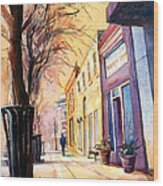 Fuquay-varina Downtown Wood Print