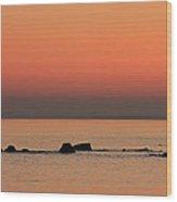 Furbo Beach Sunset Wood Print by Peter Skelton