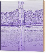 Furman Bell Tower Wood Print