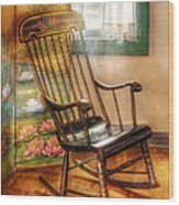 Furniture - Chair - The Rocking Chair Wood Print