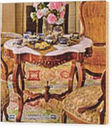 Furniture - Chair - The Tea Party Wood Print