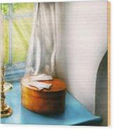 Furniture - Lamp - In The Window  Wood Print
