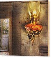 Furniture - Lamp - Kerosene Lamp Wood Print