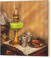 Furniture - Lamp - The Gas Lamp Wood Print