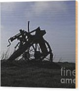 Furrow Plough Wood Print