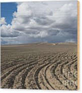 Furrows Before The Storm Wood Print