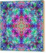 Fushia Rainbow Mandala Wood Print