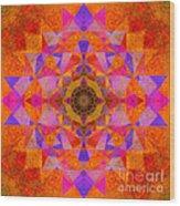 Fushia Yantra Diamond Mandala Wood Print