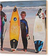 Future Surfing Champs Wood Print