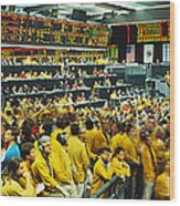 Futures And Options Traders Chicago Wood Print