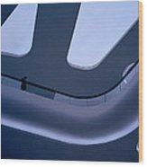Futuristic Blue Wood Print