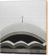 Futuristic Islamic Dome Wood Print