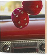 Fuzzy Dice Wood Print
