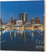 Fx2l472 Columbus Ohio Night Skyline Photo Wood Print
