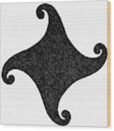 Fylfot-triskelion Wood Print