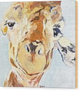 G A Giraffe Wood Print