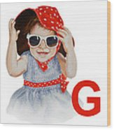 G Art Alphabet For Kids Room Wood Print