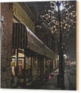 G Street Antique Store In The Snow Wood Print