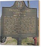 Ga-005-16 Provost Guard Campsite Wood Print