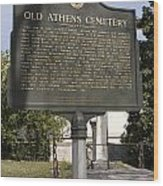 Ga-029-101 Old Athens Cemetery Wood Print
