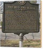 Ga-029-18 The Red And Black Wood Print