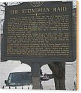 Ga-029-6 The Stoneman Raid Wood Print