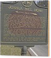 Ga-104-1 Joshua Hill Home Wood Print