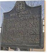 Ga-73-4 Hart County Wood Print