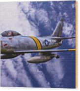 Gabby's F-86e Wood Print