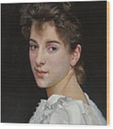 Gabrielle Cot After W. Bougereau Wood Print