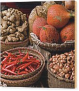 Gac Fruit 01 Wood Print