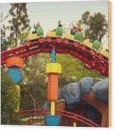 Gadget Go Coaster Disneyland Toontown Wood Print