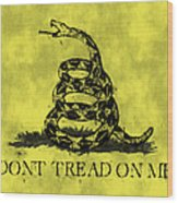 Gadsden Flag - Dont Tread On Me Wood Print